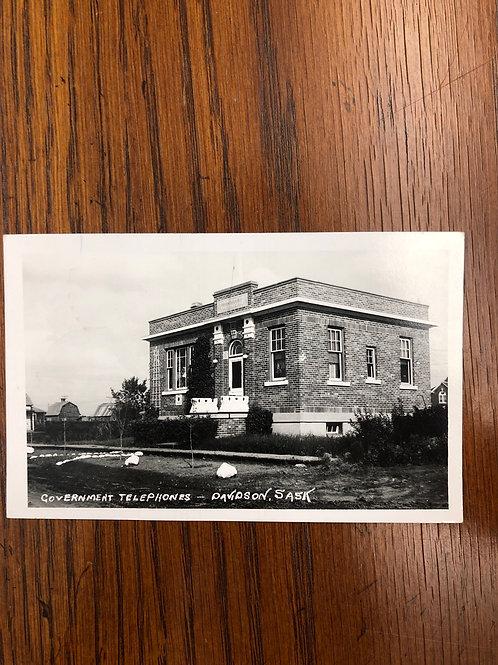 Davidson, SASK - Government Telephone office 1964