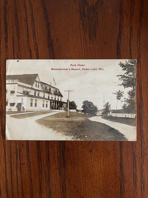 Cedar lake, Wisconsin - park hotel @ rosenheimer's resort 1908