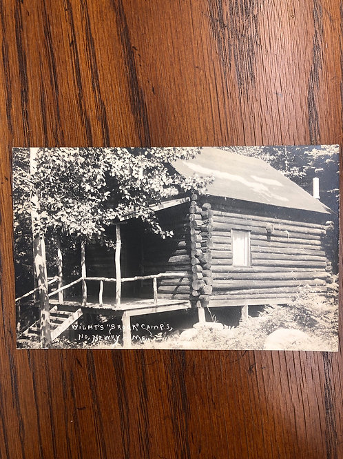 Newry, Maine - wight's brook log cabin camp