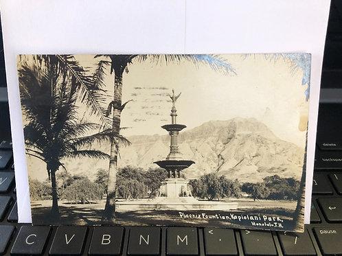 Honolulu, Hawaii- Phoenix fountain Kapiolani park 1921
