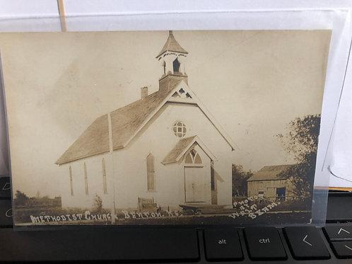 Benton , Kansas - Methodist Church R.P.O.Cancel 1910