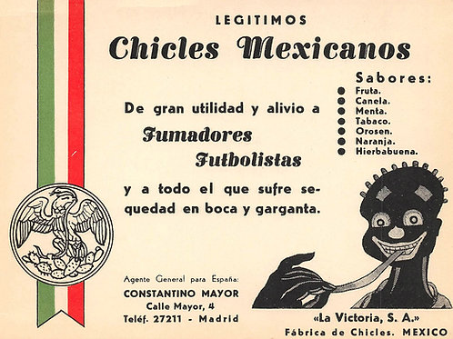 Mexican restaurant advertising postcard