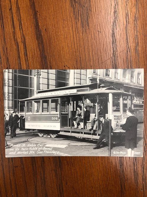 San Francisco , California - cable car turntable