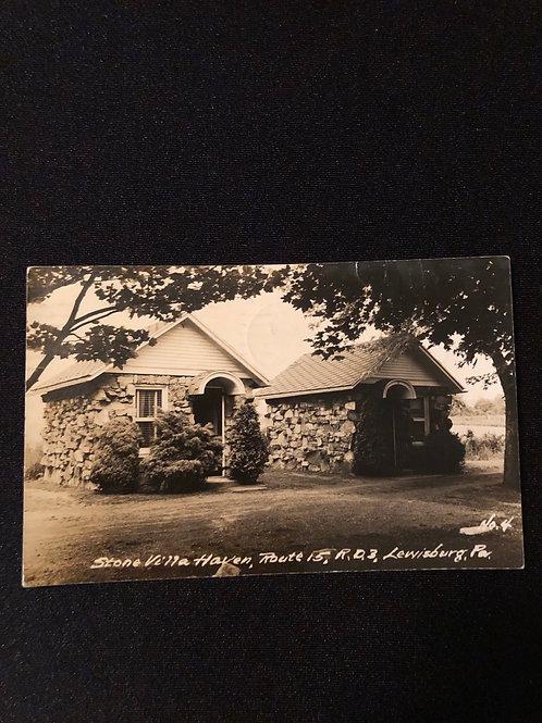 Lewisburg Pennsylvania - Stone villa Haven 1954