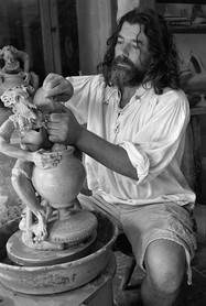 Portrait of Daniel Lee a amazing sculptor and potter.