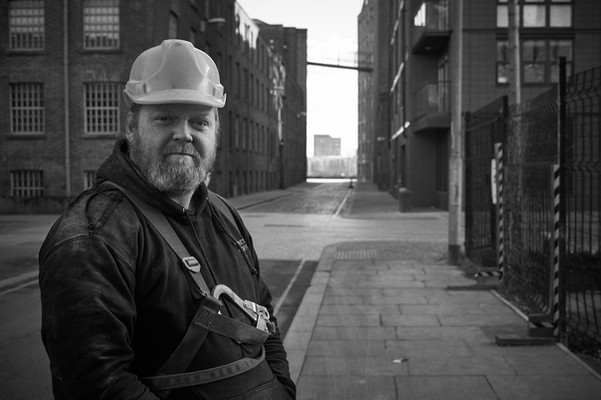Portrait of a builder in Manchester.