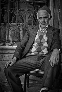 Portrait of a man who clean shoes in Istanbul.