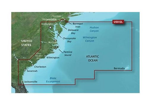 Mid-Atlantic BlueChart G3 Vision Map
