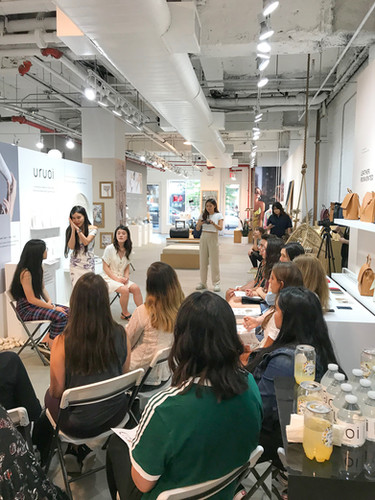 Aura Photo at Uroi Skincare product launch