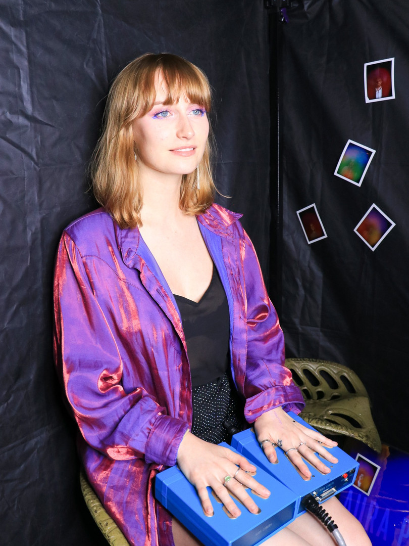 Aura Photography inside the Photobooth for Private Event with Pookiebird at 3 dollar bill in Brooklyn