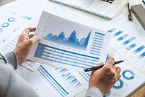 businessman working data document graph