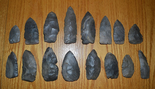 Group of 16 Hornstone Cache Blades
