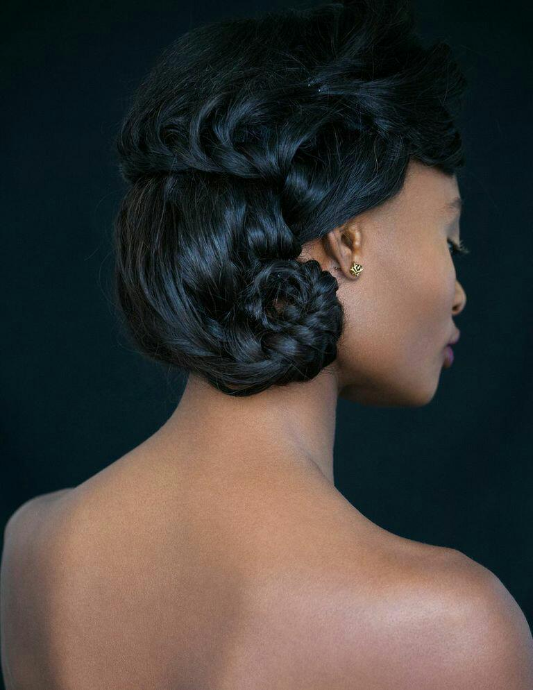 Modern Bridal/Editorial Updo