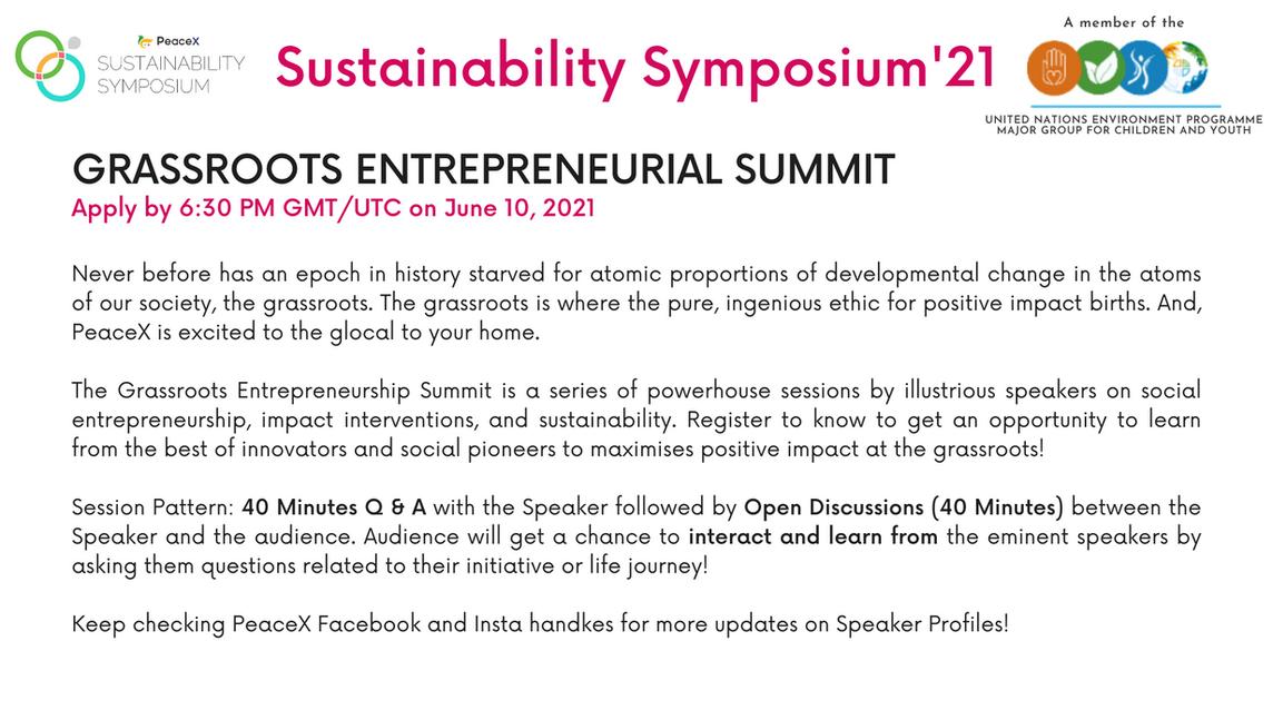 Grassroots Entrepreneurial Summit