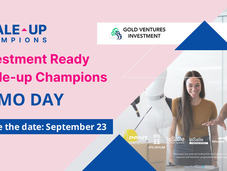 Scale-up Champions' third Investment Ready Demo Day- september 23 , 2021