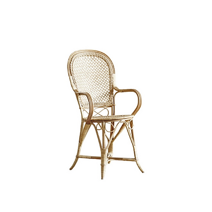 Handmade Natural Rattan Agnieszka Arm Dining Chair