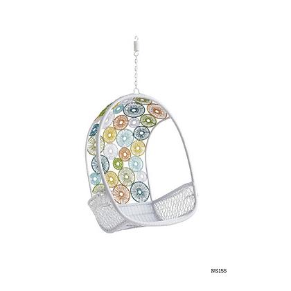 Handmade Natural Rattan Crown Princess Egg Swing Chair-NS155