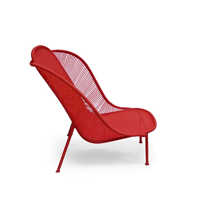 Handmade Alif Red Arm Chair