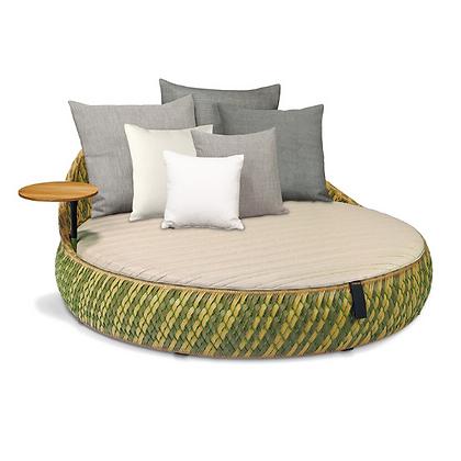 Handmade Wicker Arebic Green Lounge Sofa