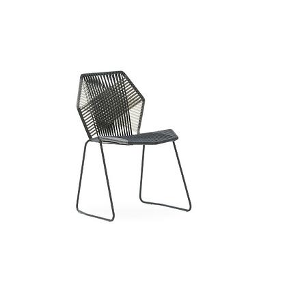 Handmade Azim Askari Black Arm Less Chair