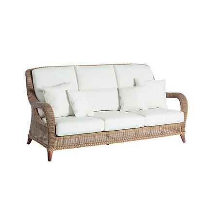 Handmade Wicker Kabir Brown 3 Seater Sofa - KB3S34
