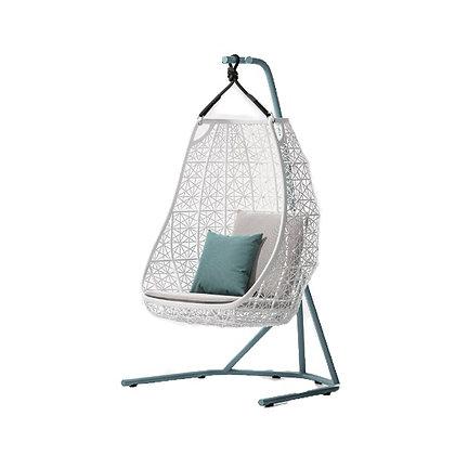 Handmade Wicker Jannat Egg Swing for Home and Garden, Prime Design