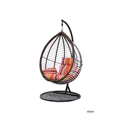 Handmade Natural Rattan Egg Shape Swing Chair-NS40