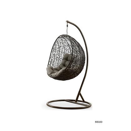 Handmade Wicker Black Egg Swing for Home and Garden  - NS100