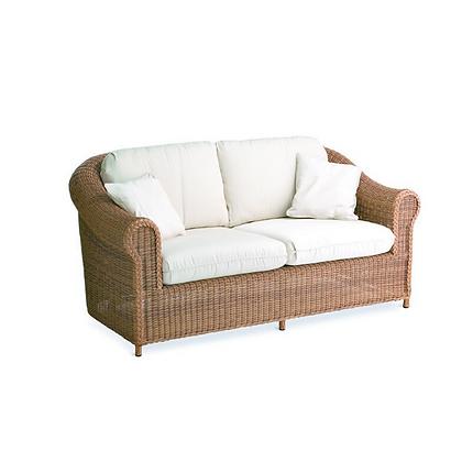 Handmade Wicker Kabir Brown 2 Seater Sofa - KB2S30