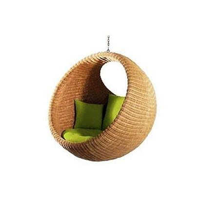 Handmade Natural Bird Nest Swing, Natural Rattan
