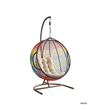Handmade Wicker Rainbow queen Round Egg Swing Chair-NS38