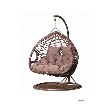 Handmade Natural Rattan Hanging Swing Chair, For Two Person, Double swing -NS111