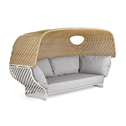 Handmade Wicker Eazim Deep Sofa With Roof, Prime Design