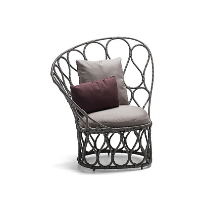 Handmade Wicker Fairy Haloke Easy Arm Chair