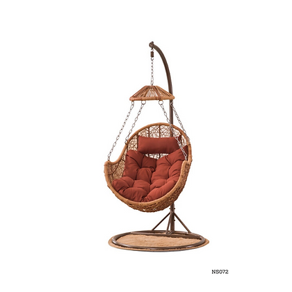 Hanging Rattan Swing Patio Garden Chair, Outdoor, Indoor Egg Chair- NS72
