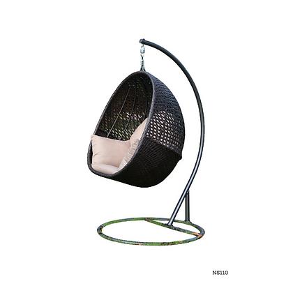 Handmade Rattan Hanging Egg Swing for Home and Garden- NS110