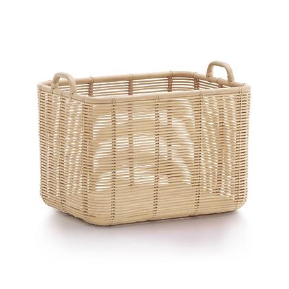 Handmade Natural Rattan Royal Basket