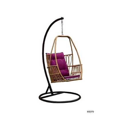 Handmade Natural Organic Rattan Hanging Swing Chair -NS79