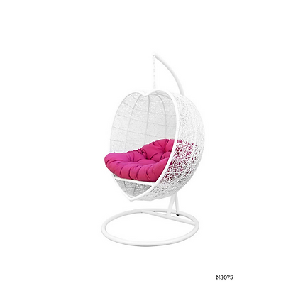 Handmade Wicker Rattan Heart Egg Swing Chair For Outdoor and Indoor - NS75
