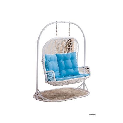 Handmade Egg Swing Sofa Double Seater White - NS51
