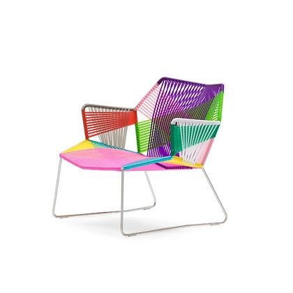 Handmade Azim Askari Multi Color Big Arm Chair