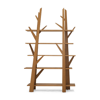 Handmade Natural Oak Wood Bookshelf for home and office