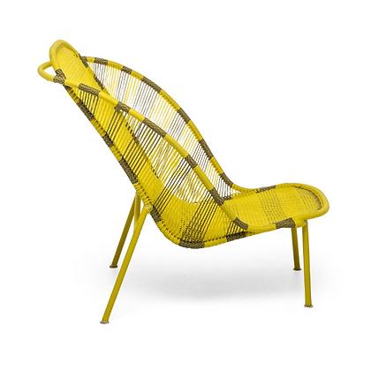 Handmade Alif Yellow Arm Chair