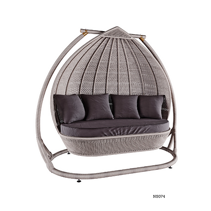 Handmade Wicker Hanging Swing Sofa For 4 Seater, four person, Family Swing-NS74