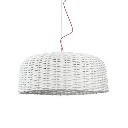 Rattan, Wicker handwoven big Suspension Lamp