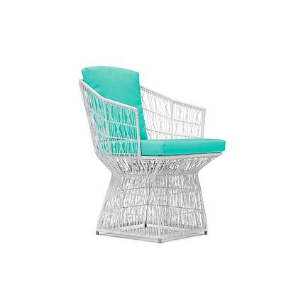 Handmade Wicker Faith Fabia Arm Chair White