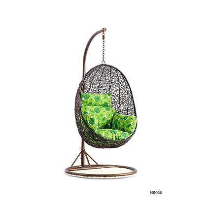 Handmade Rattan, Wicker Hanging Egg Swing(Jhoola) Chair-NS26