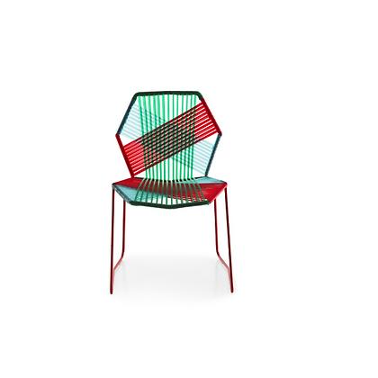 Handmade Azim Askari Multi Color Arm Less Chair
