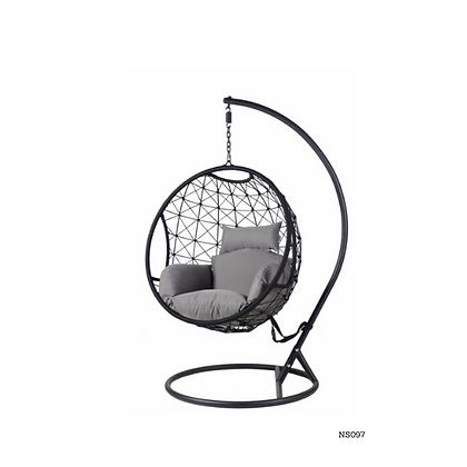 Handmade Rattan, Wicker Round Egg Swing for Home, Garden, Hotel  - NS97