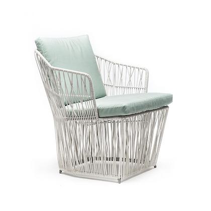 Handmade Wicker Faith Fabia Easy Arm Chair White